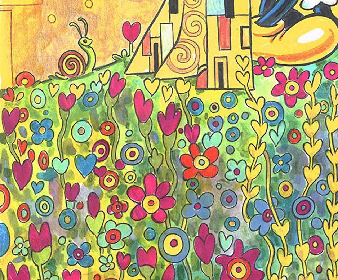 """Original Painting - Mickey & Minnie: Klimt's """"The Kiss"""" - 5"""