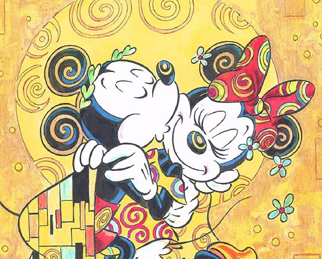 """Original Painting - Mickey & Minnie: Klimt's """"The Kiss"""" - 6"""