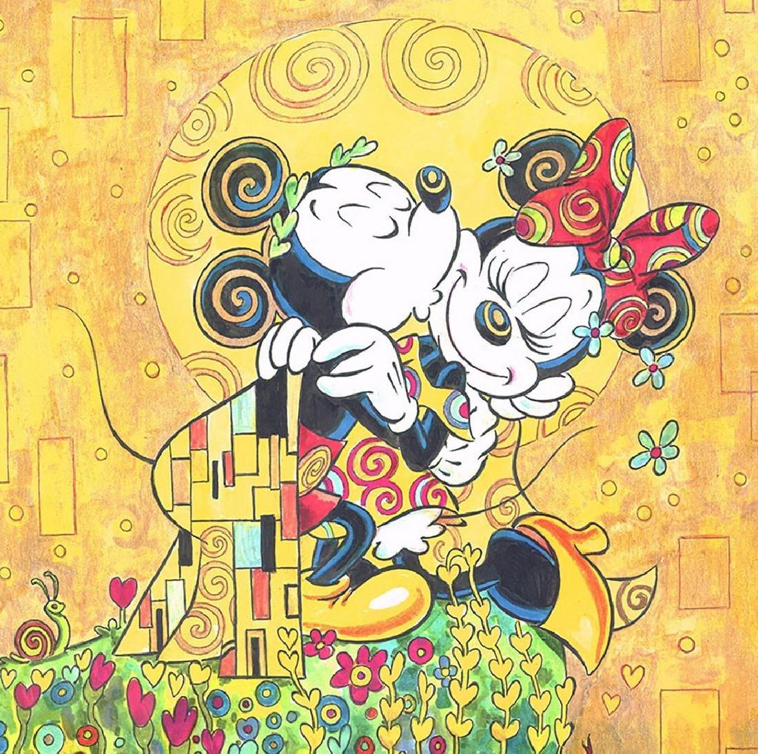 """Original Painting - Mickey & Minnie: Klimt's """"The Kiss"""" - 7"""