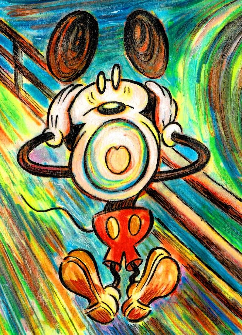"Original Painting - Mickey Mouse: Munch's ""The Scream"" - 2"