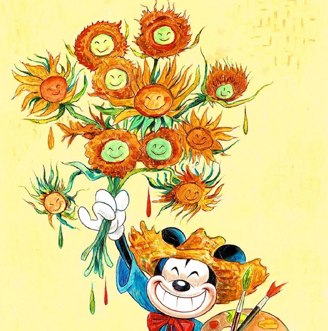 "Original Painting - Mickey Mouse: Van Gogh ""Sunflowers"" - 2"