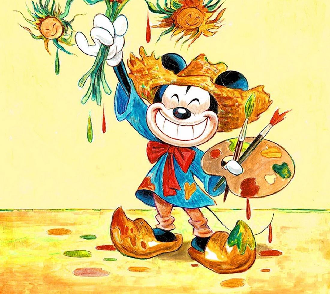 "Original Painting - Mickey Mouse: Van Gogh ""Sunflowers"" - 3"