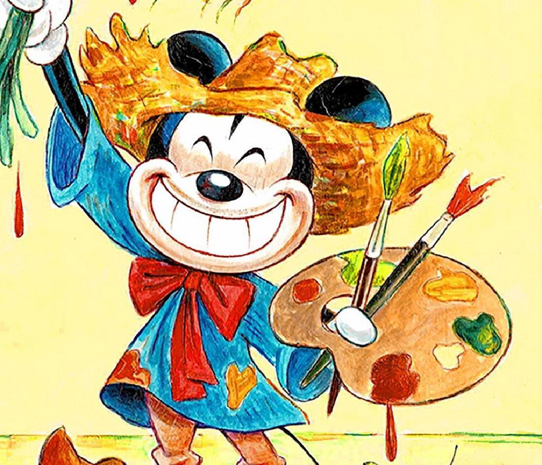 "Original Painting - Mickey Mouse: Van Gogh ""Sunflowers"" - 4"