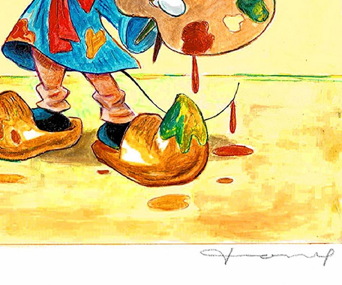 "Original Painting - Mickey Mouse: Van Gogh ""Sunflowers"" - 5"