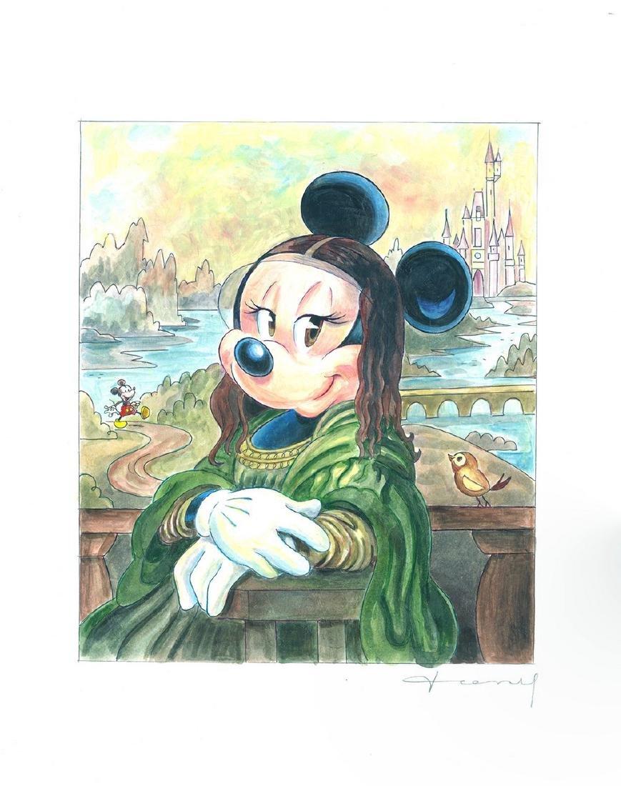 Original Painting - Minnie Mouse: da Vinci's Mona Lisa