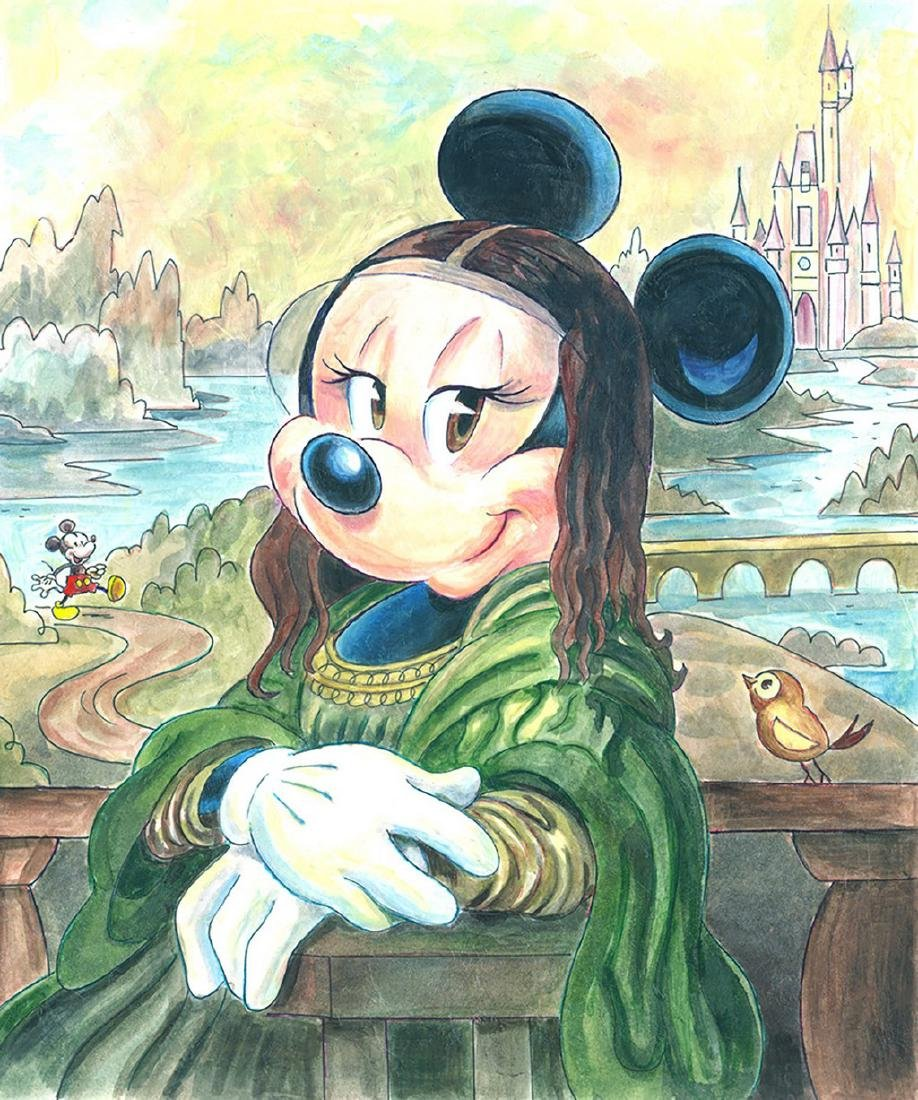 Original Painting - Minnie Mouse: da Vinci's Mona Lisa - 2