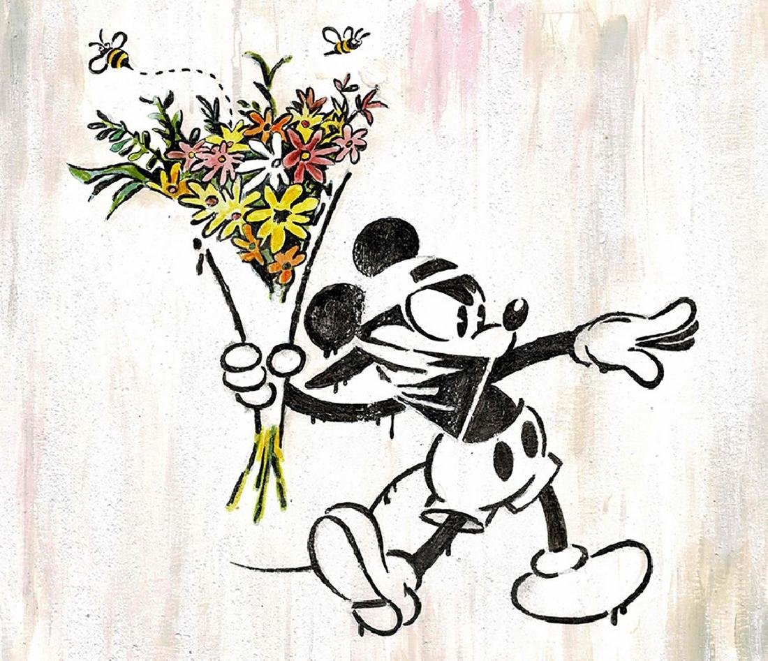 Original Painting - Mickey Mouse inspired Banksy - 2