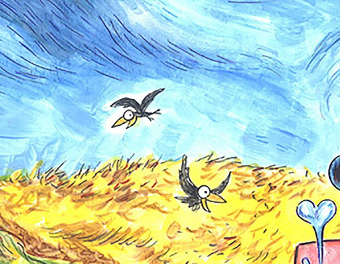 Mickey & Minnie inspired by van Gogh's Wheatfield Crows - 3