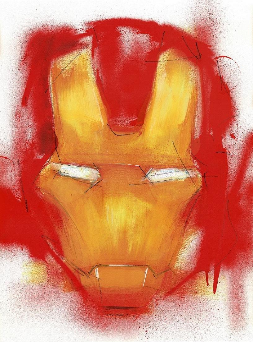 Iron Man - Original Acrylic Painting Antistatik