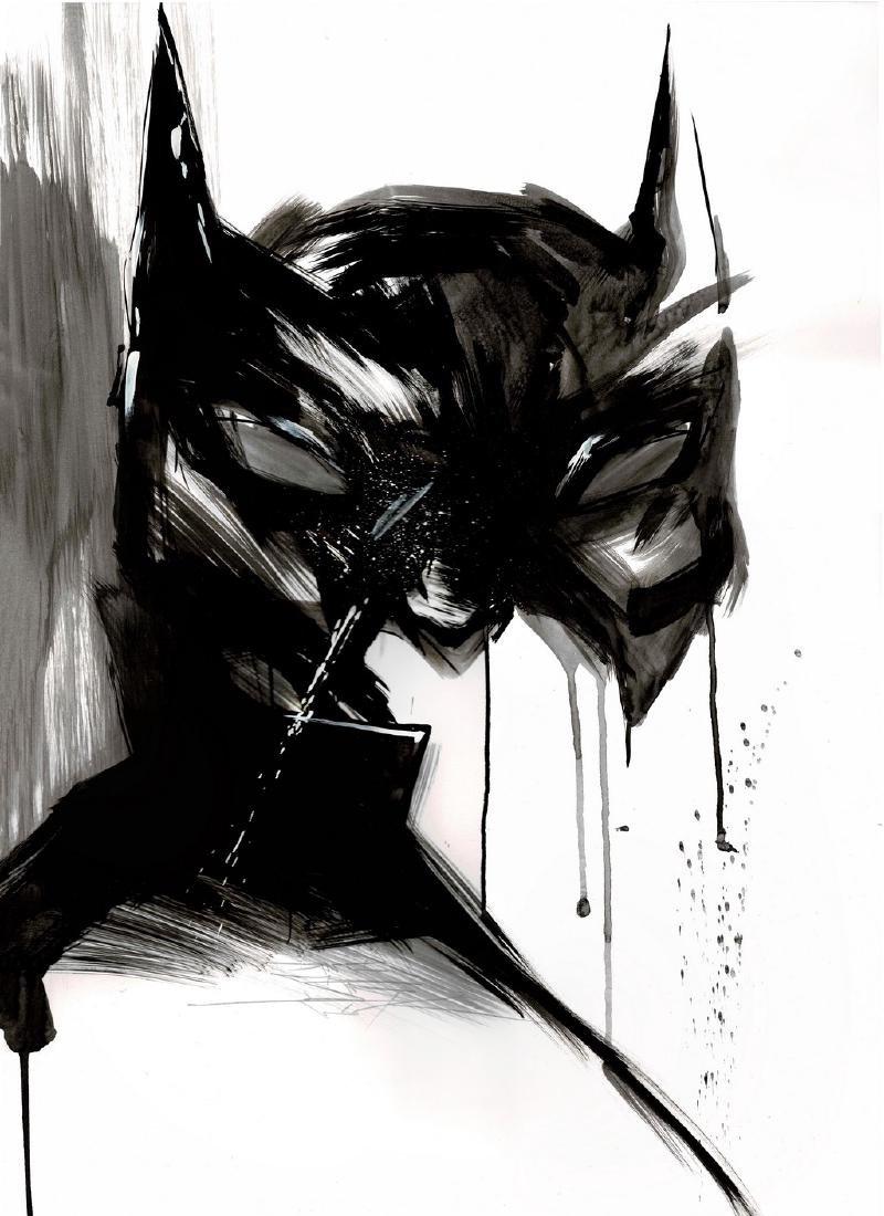 Batman II - Original Acrylic Painting Antistatik