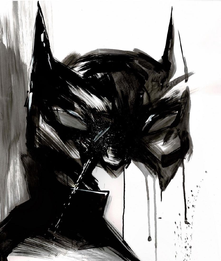 Batman II - Original Acrylic Painting Antistatik - 2