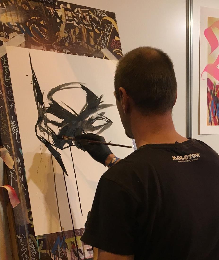 Batman II - Original Acrylic Painting Antistatik - 6