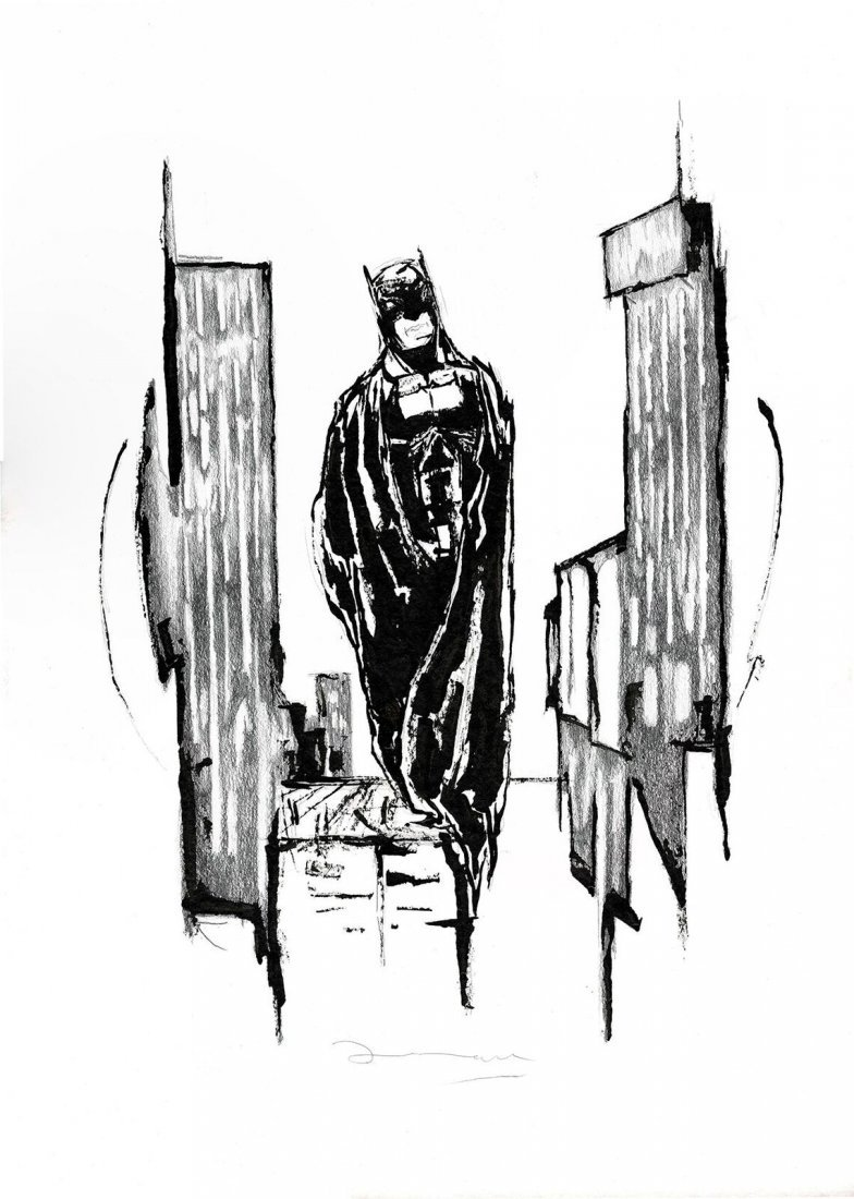 Batman Original Painting Casas, Arnau