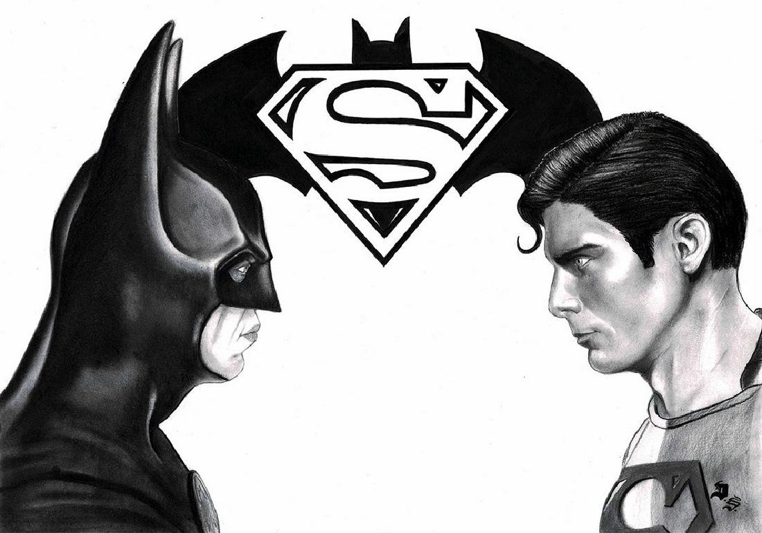 Batman vs Superman Original Drawing Septiembre, Diego