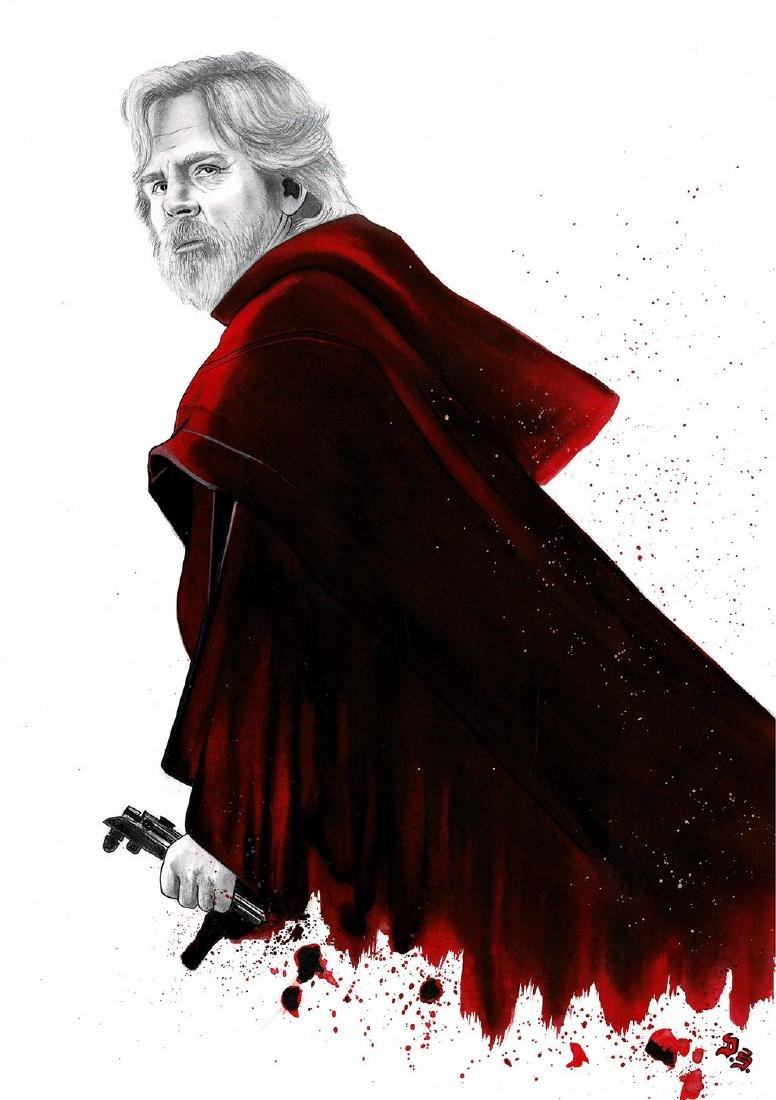 Luke Skywalker Original Drawing Septiembre, Diego