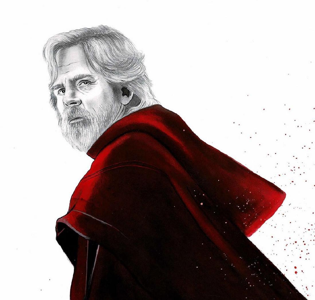 Luke Skywalker Original Drawing Septiembre, Diego - 2