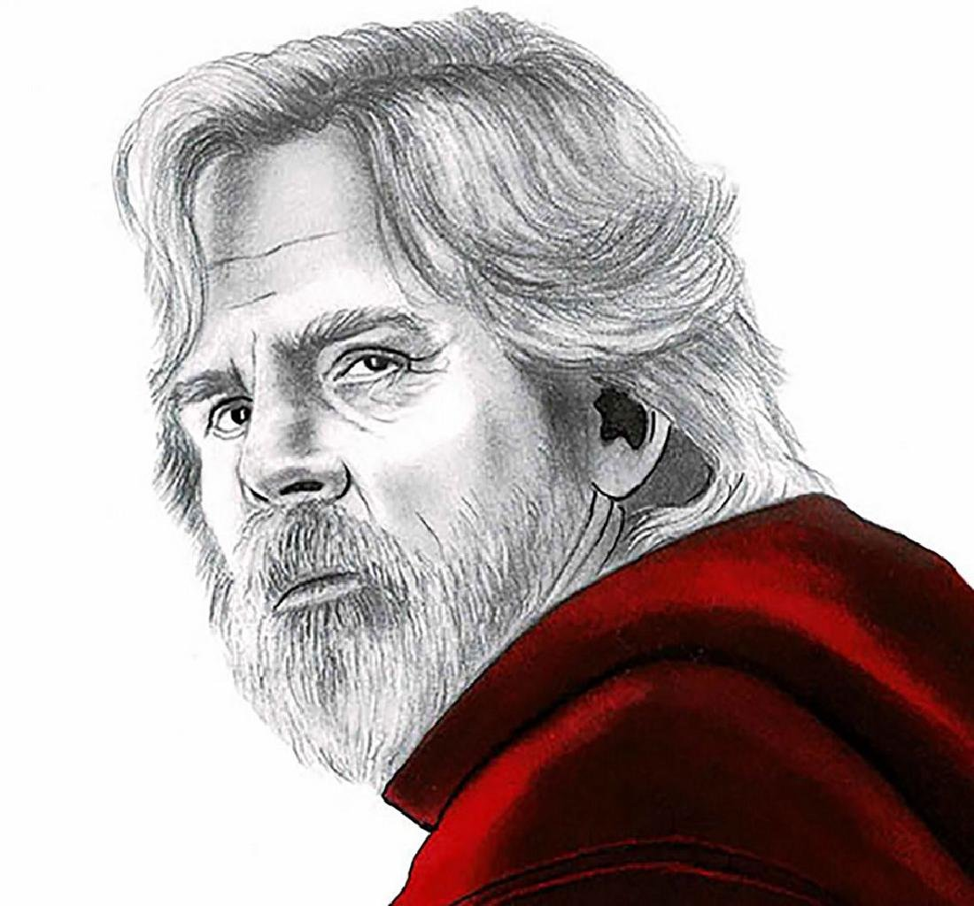 Luke Skywalker Original Drawing Septiembre, Diego - 3