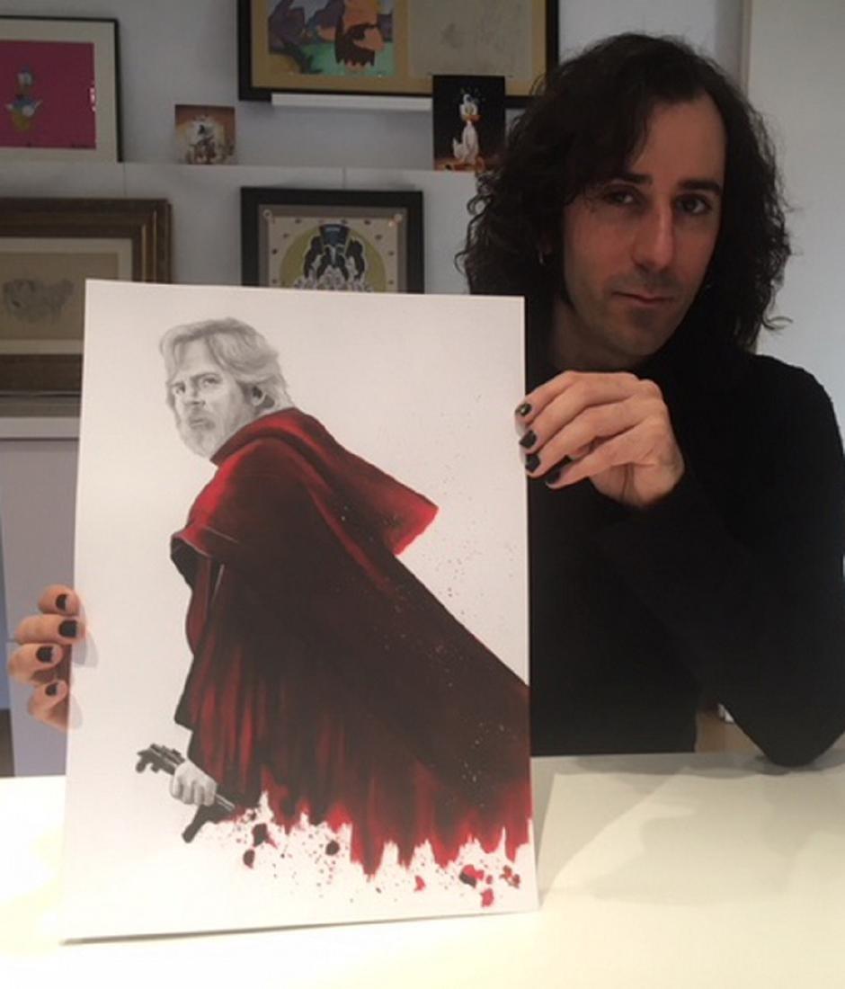 Luke Skywalker Original Drawing Septiembre, Diego - 6