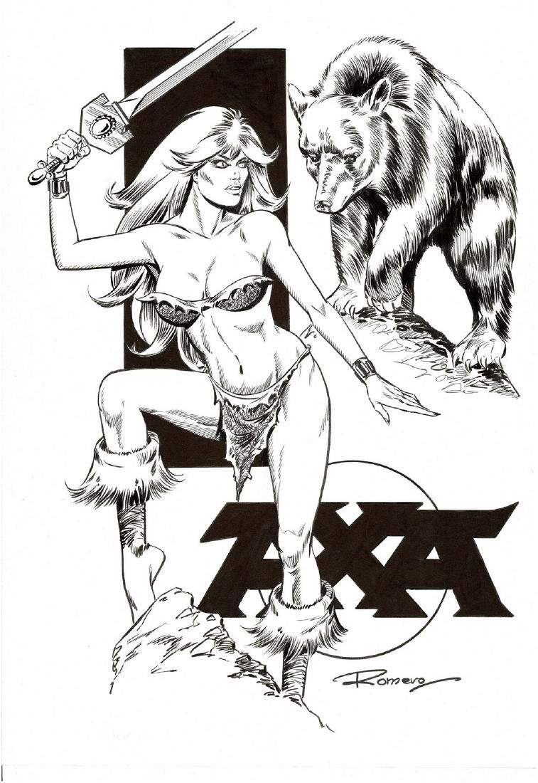 Axa & The Bear - Original Production Page Romero