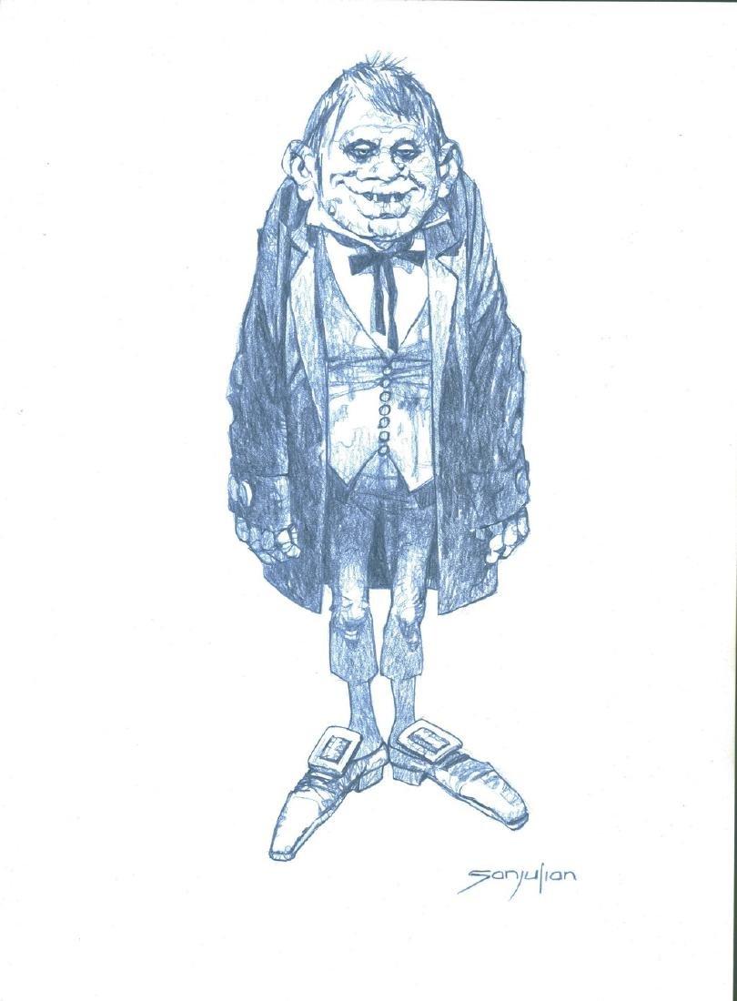 Eerie Original Drawing Sanjulian, Manuel