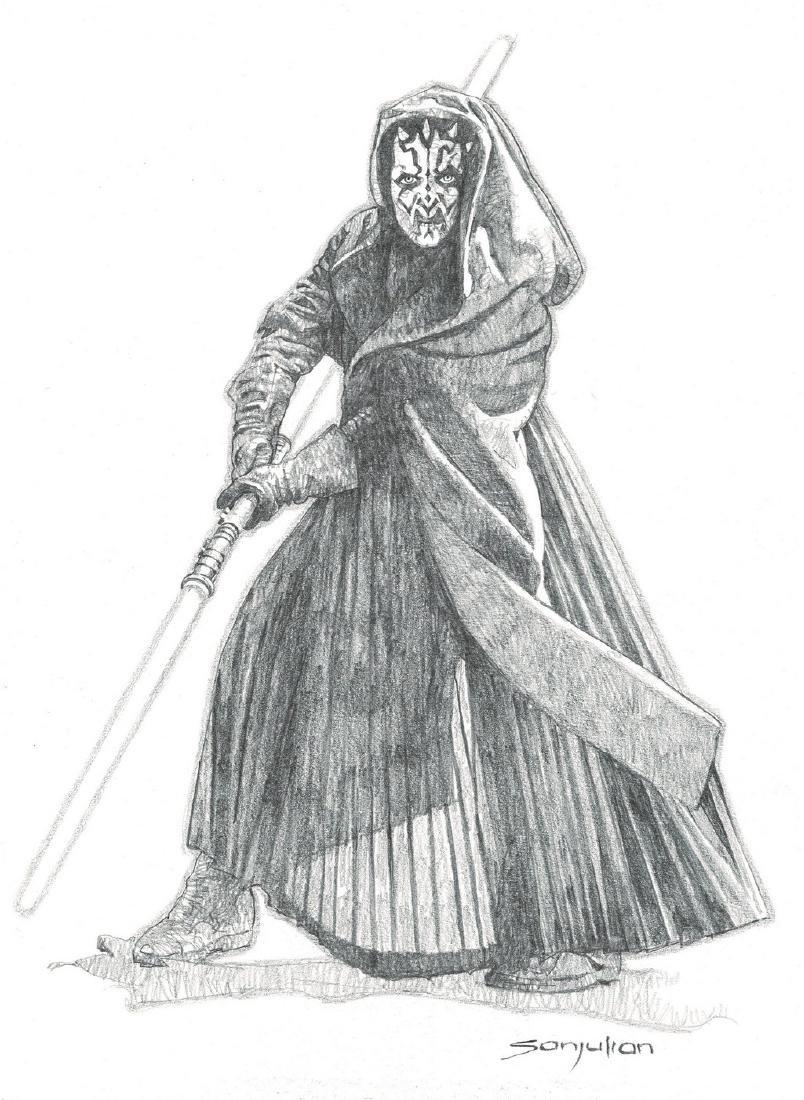 Darth Maul Original Drawing Sanjulian, Manuel