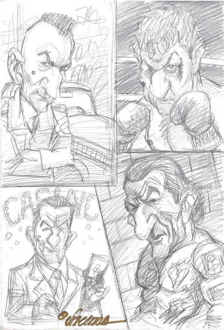 Stallone Grudge Match Original Sketch Vizcarra, Joan