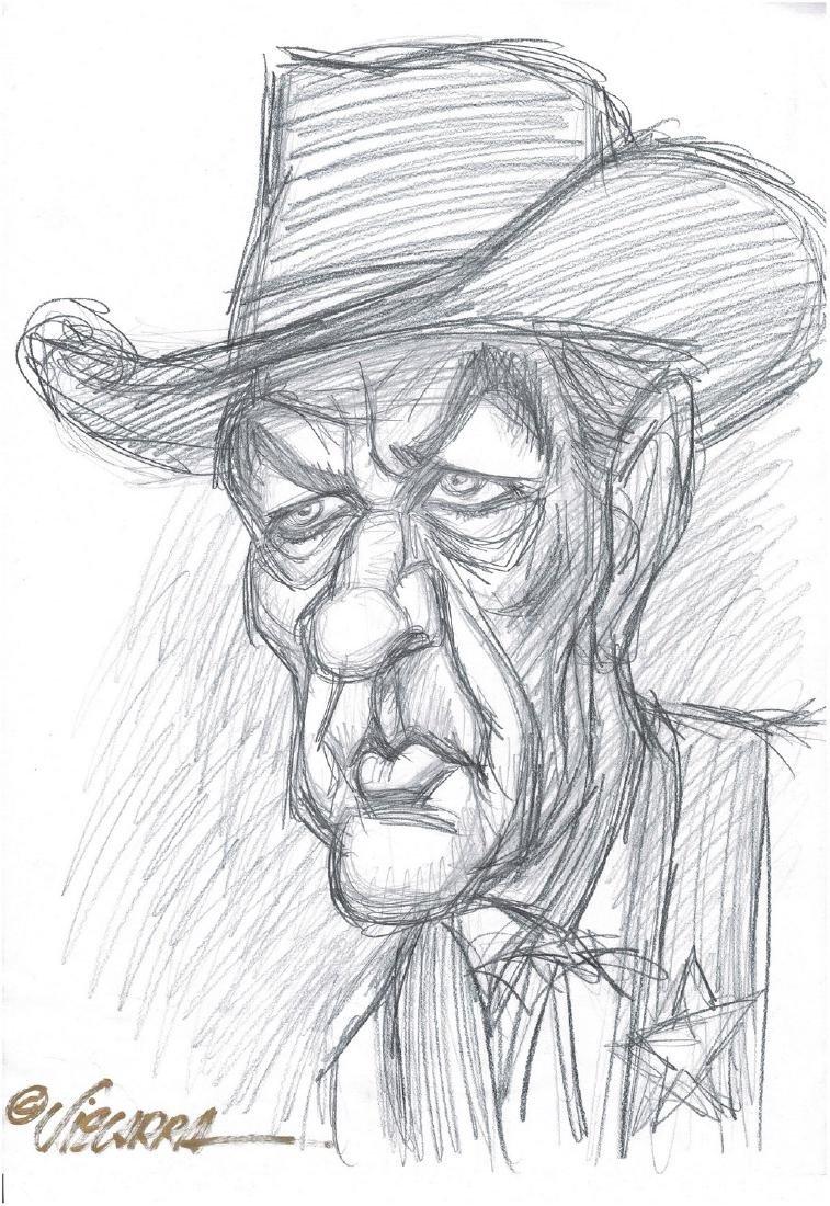John Wayne Original Sketch Vizcarra, Joan