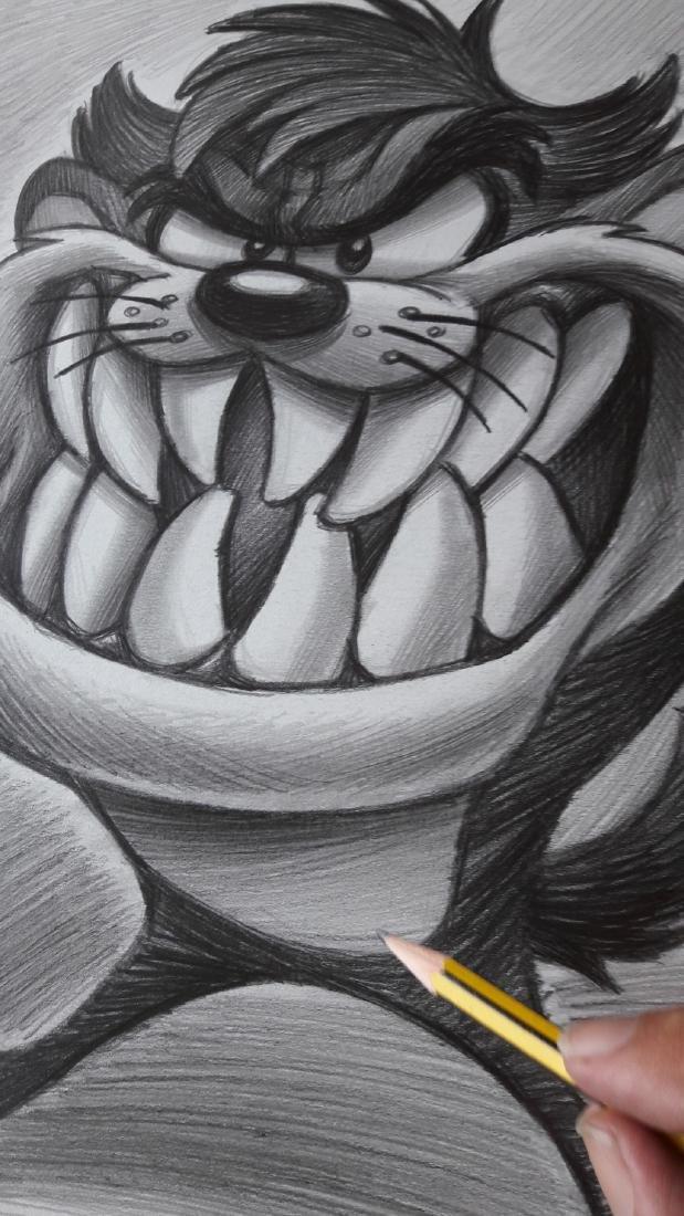 Tasmanian Devil Original Drawing Vizcarra, Joan - 2