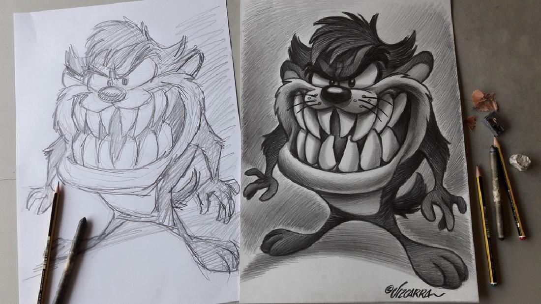 Tasmanian Devil Original Drawing Vizcarra, Joan - 3
