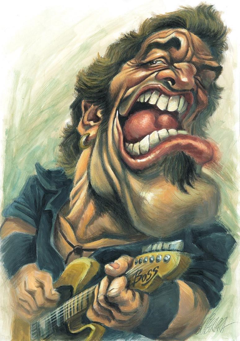 Bruce Springsteen Original Painting Vizcarra, Joan