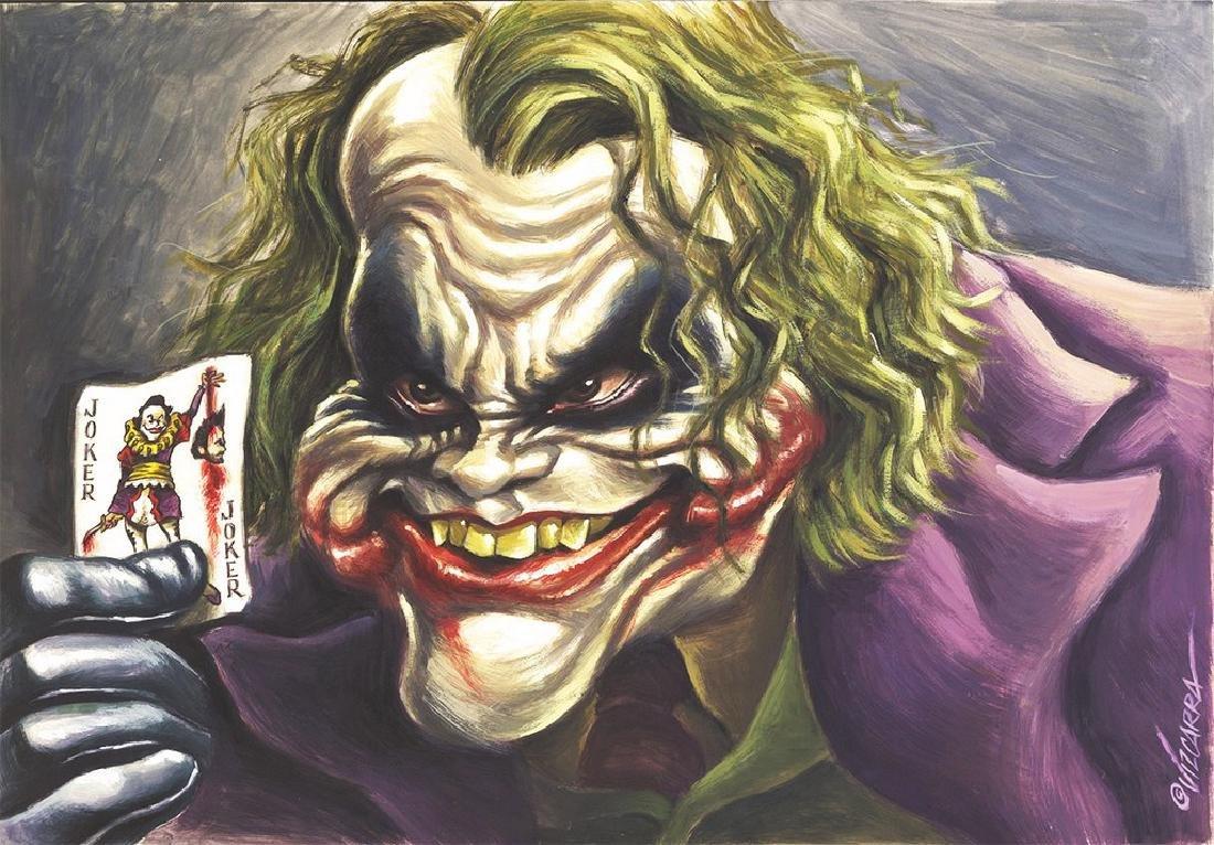 Heath Ledger - The Joker - Original Painting Vizcarra