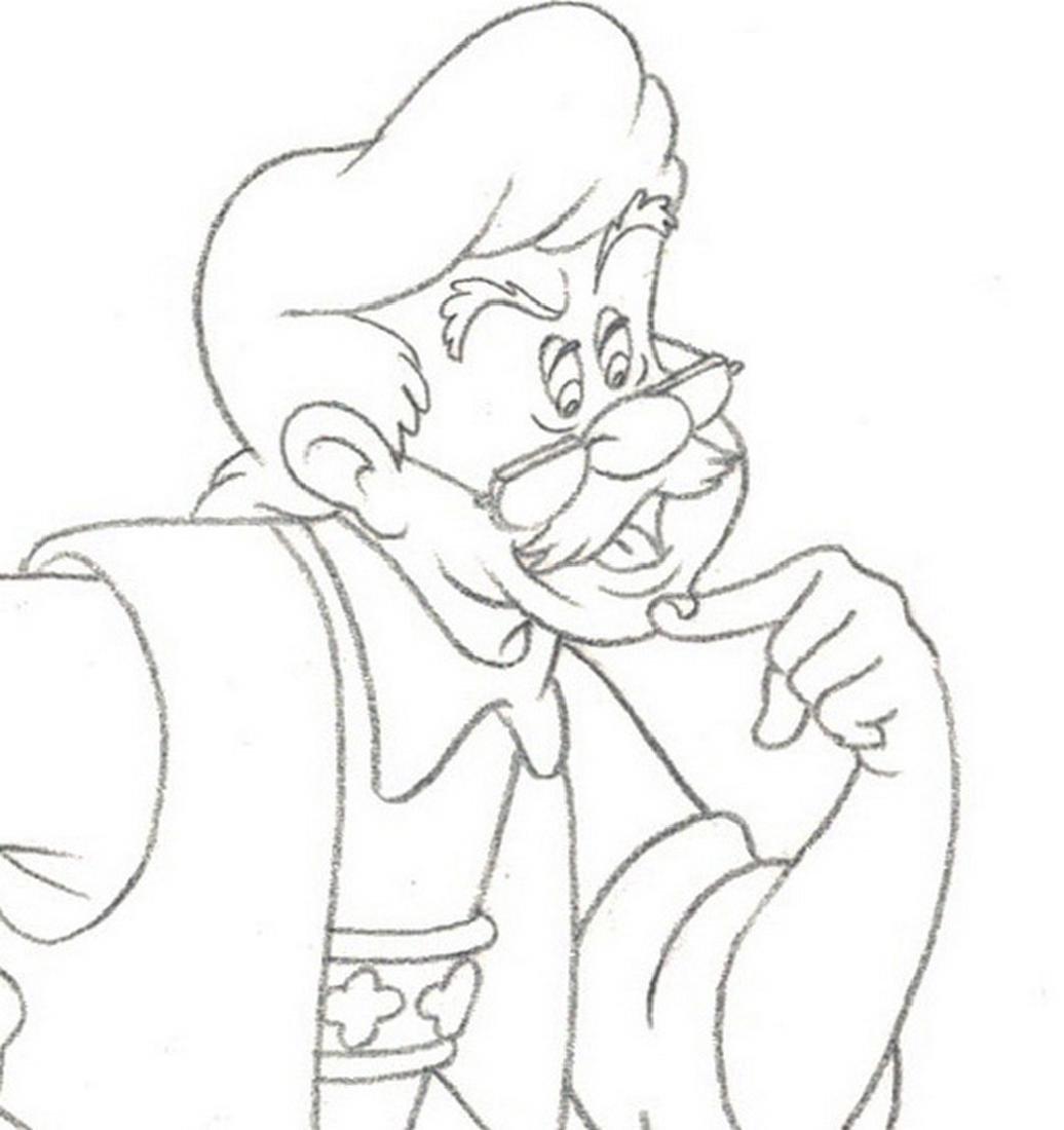 Pinocchio Original Production Drawing JM Cardona - 3