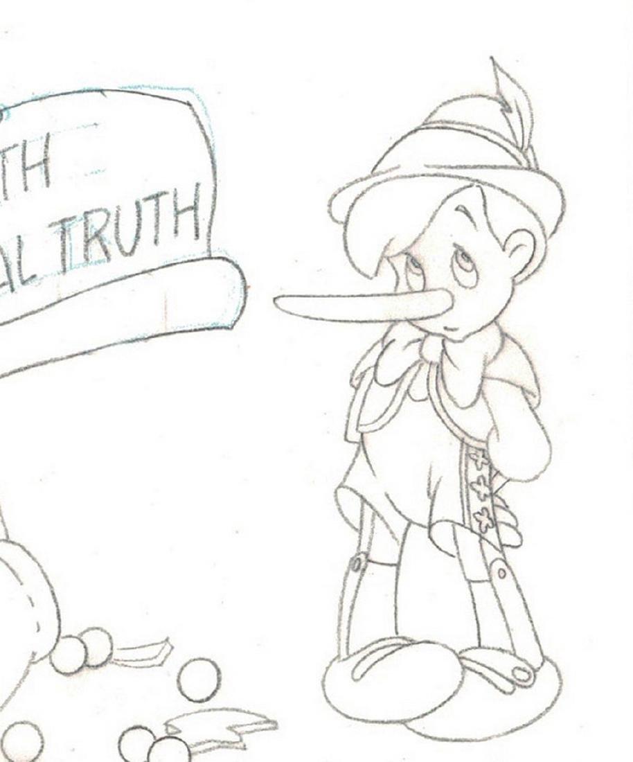 Pinocchio Original Production Drawing JM Cardona - 6