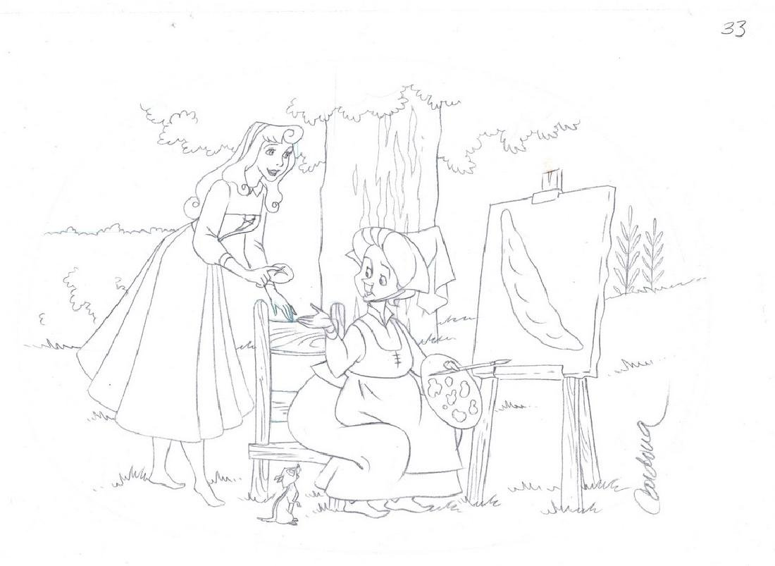 Sleeping Beauty Original Production Drawing JM Cardona