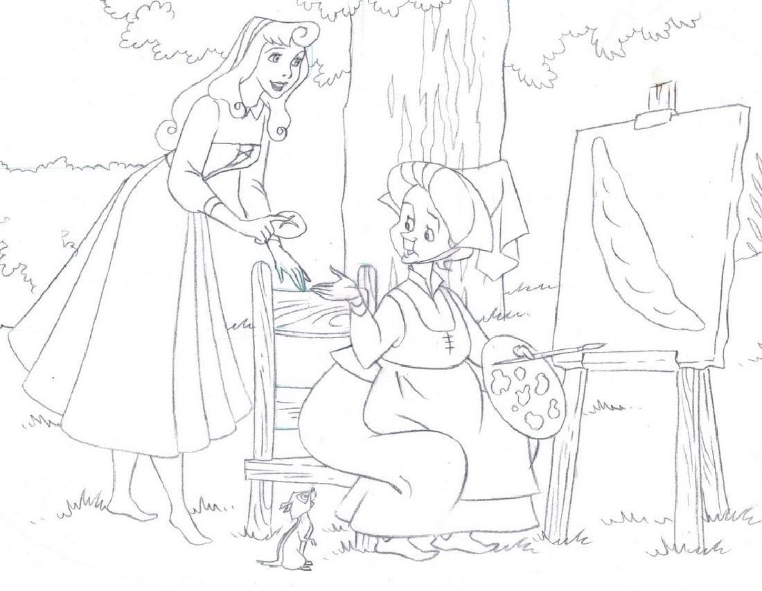 Sleeping Beauty Original Production Drawing JM Cardona - 2