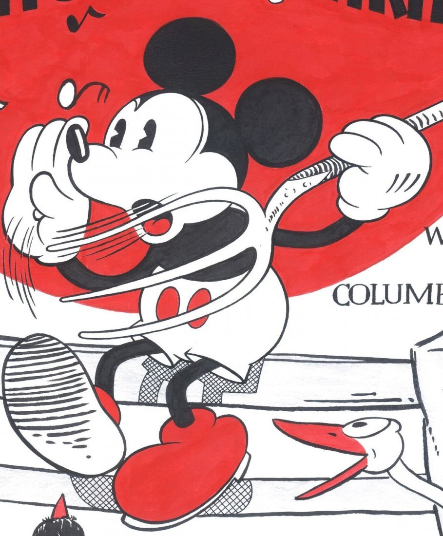 Disney Original Poster - Musical Farmer - Mickey Mouse - 3