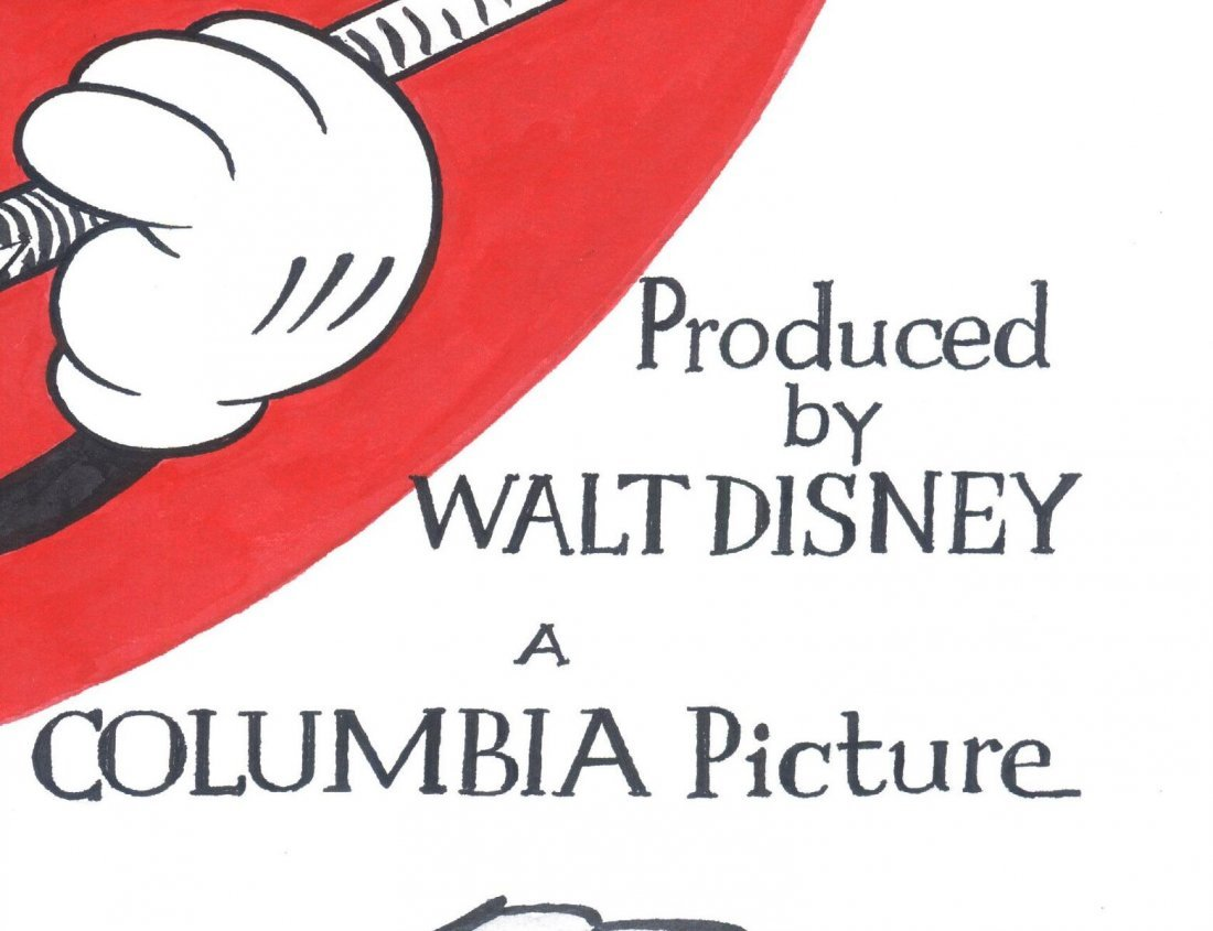 Disney Original Poster - Musical Farmer - Mickey Mouse - 5