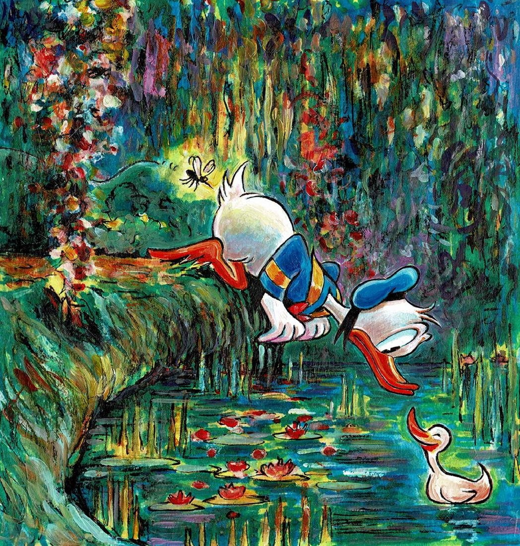 Original Painting - Donald Duck inspired by Monet - 2