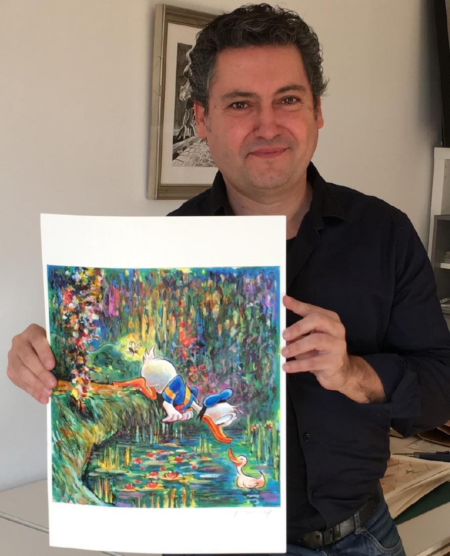 Original Painting - Donald Duck inspired by Monet - 7