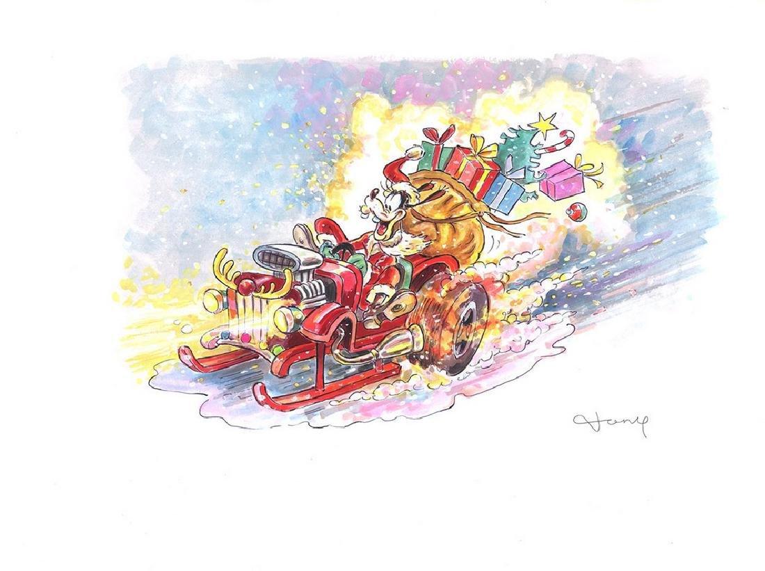 Original Watercolor - Goofy - Disney X-Mas