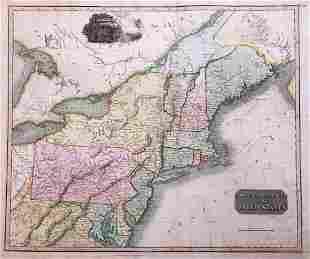 Thomson: Antique Map Northeastern United States, 1817