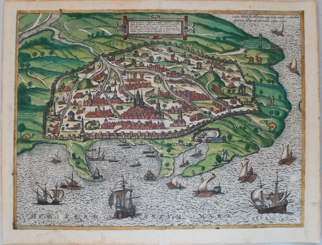 Braun & Hogenberg: Antique View of Alexandria, 1575