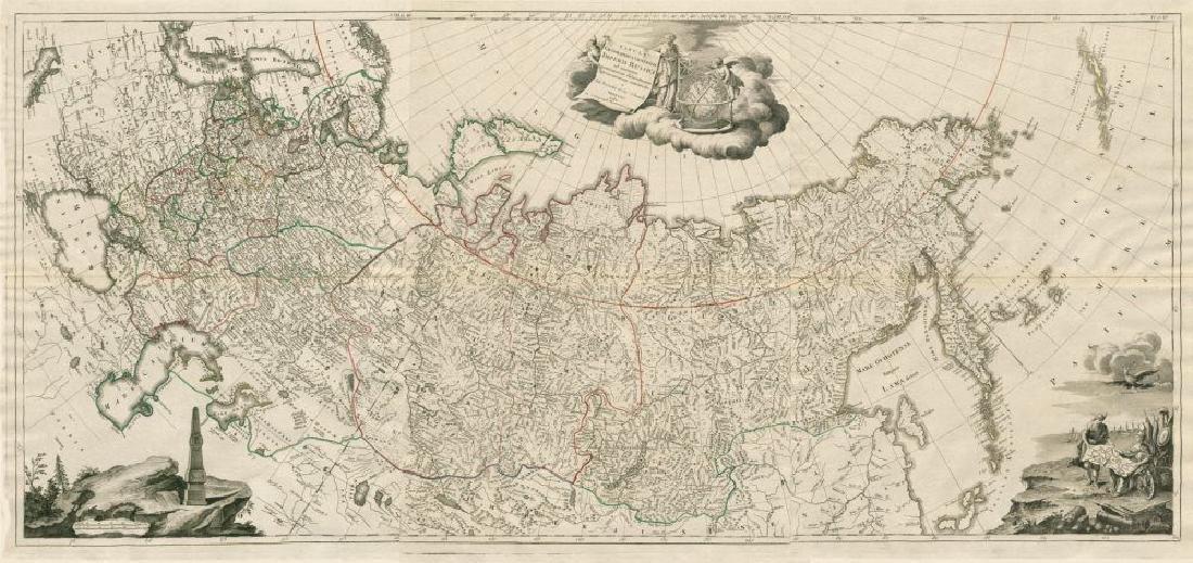 Santini/Treskot: Antique Map of Russian Empire, 1784