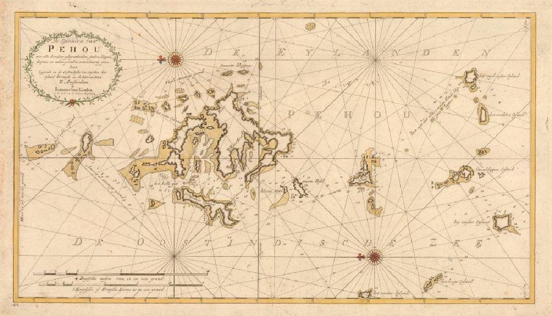 van Keulen: Antique Map of Penghu Islands Taiwan, 1753