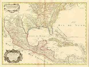 de l'Isle: Antique Map of Colonial North America, 1745