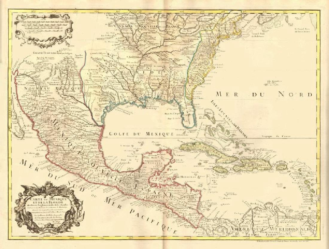 de l'Isle: Antique Map of Colonial North America, 1745