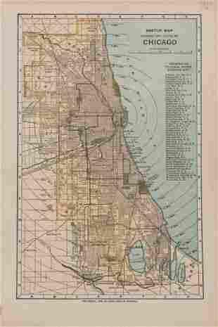 Antique Map of Chicago, 1902