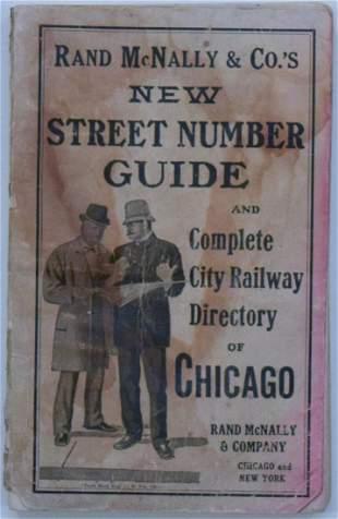 Rand McNally: Antique Chicago Railway Directory, 1916