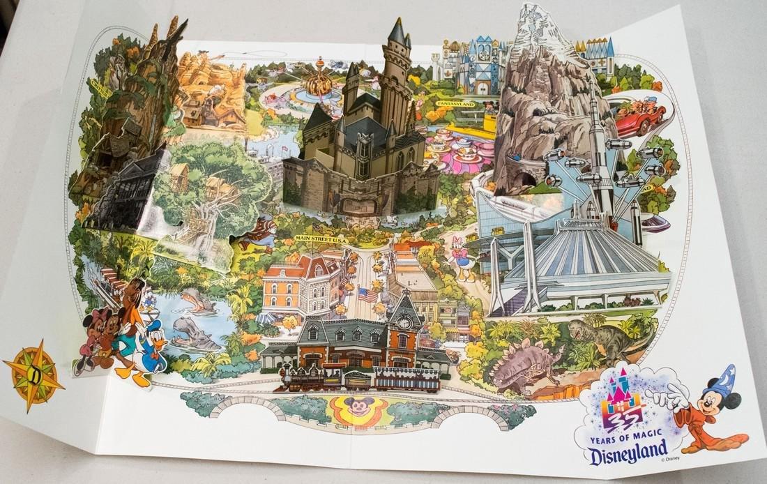 1990 Disneyland Pop-Up Map