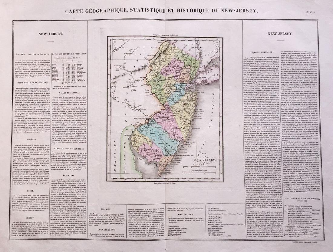 Buchon: Encyclopedic Map of New Jersey, 1825
